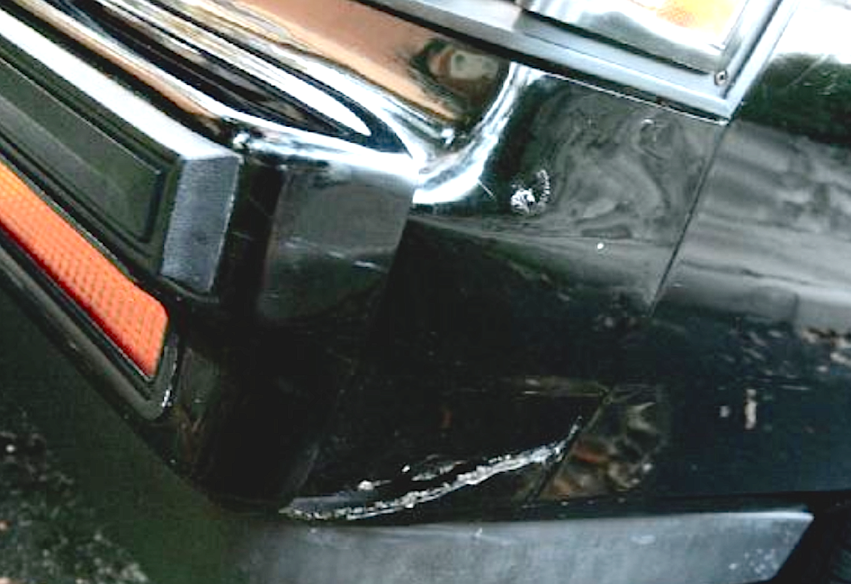 Although our front passenger side filler was presentable, our driver's side one wasn't. We purchased the car with this apparent crack already in place, and although we spent several years ignoring it as long as we could, we finally had enough.