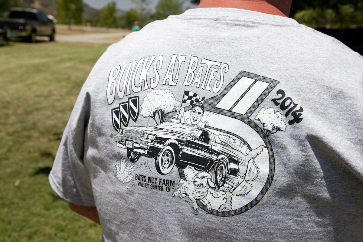 Check out the free T-shirt for all those who bring their turbo Buicks to the show. Yes folks, free!