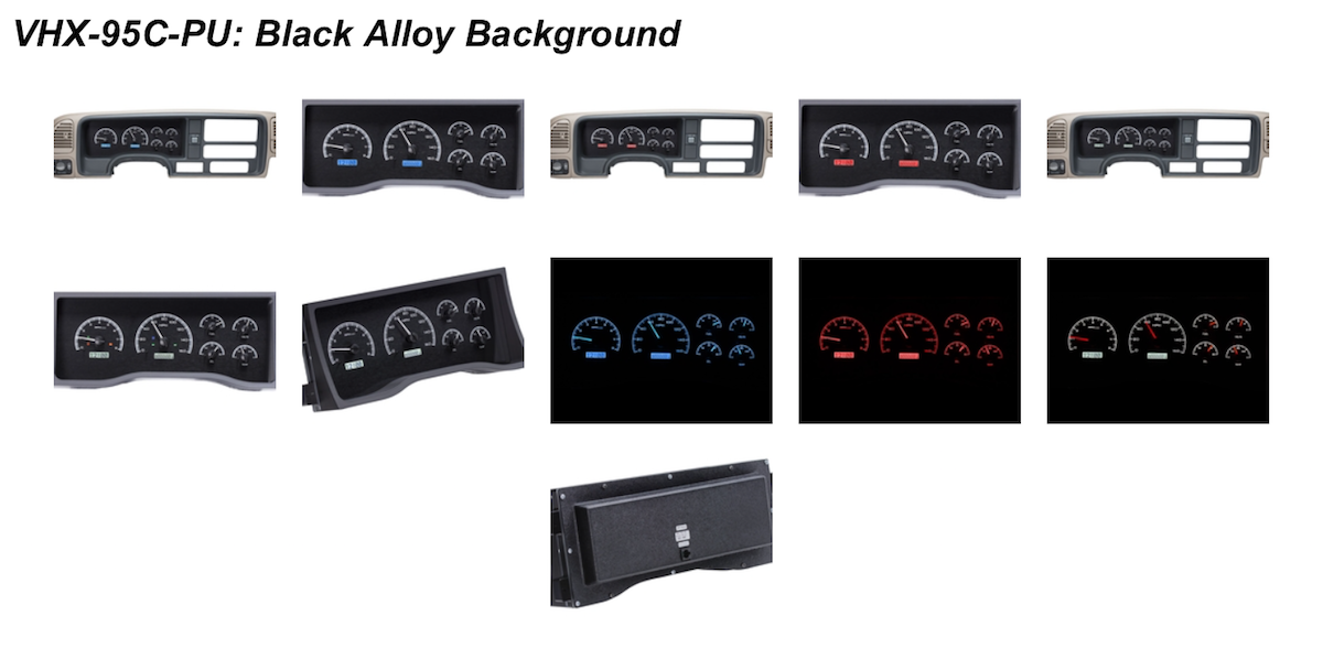 dakota digital logo. system replaces the entire factory instrument cluster and lens assembly, fully remade with a billet aluminum housing optical grade polycarbonate lenses. dakota digital logo p